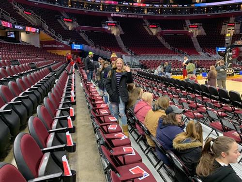 Pine Valley students grabbing their seats for the Cavs game