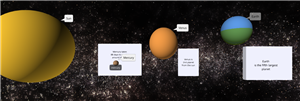 Picture of a Student Created Solar System Model