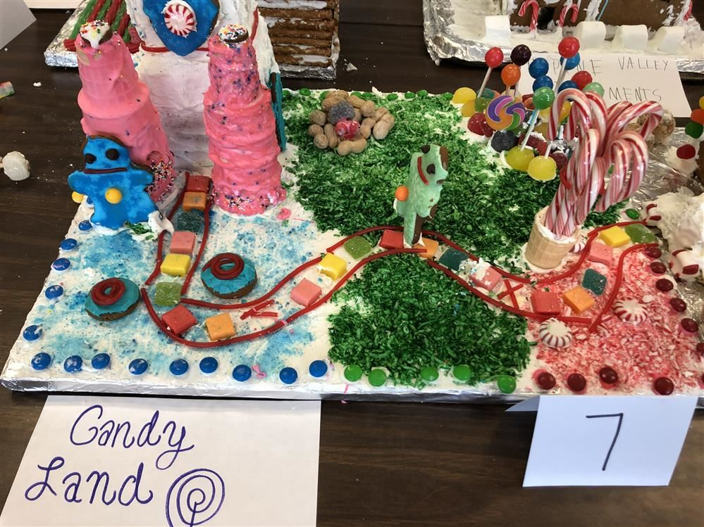 This is a picture of a student created Gingerbread House Called Candy Land
