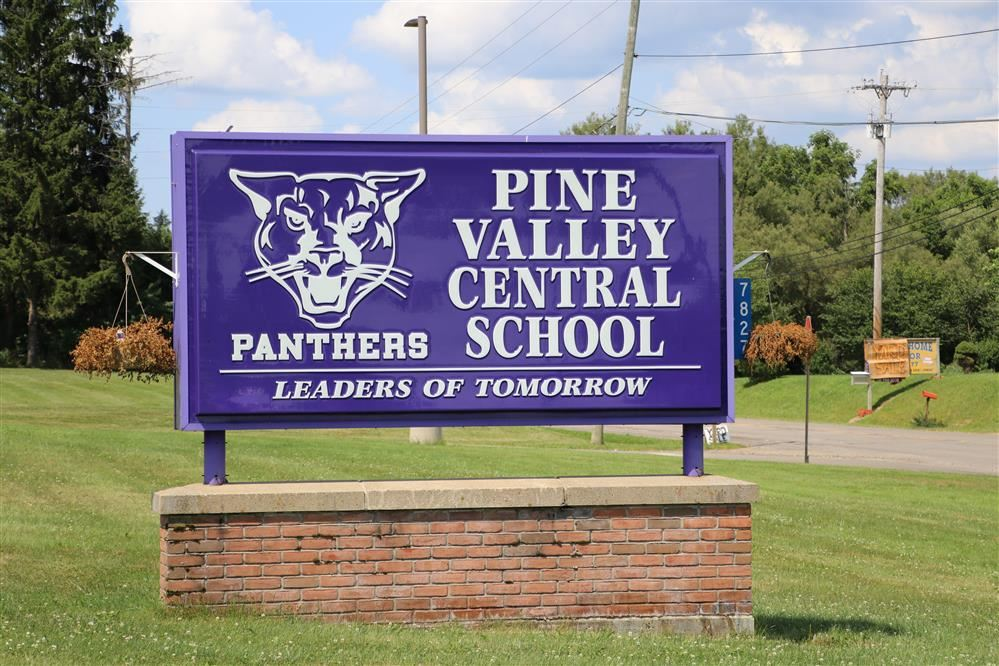 Pine Valley Central School Sign