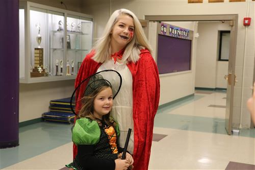 Sisters and Pine Valley Students dressed up together