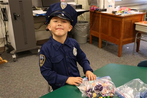 1st Grader dressed as police man