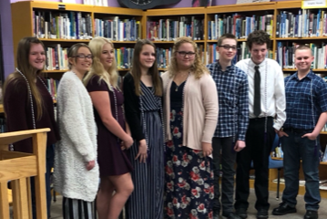 Jr Honor Society Inductees