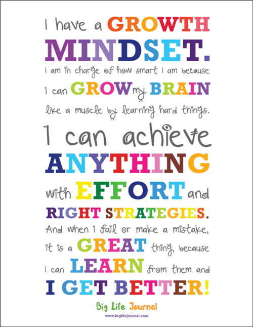 Having a good growth mindset is key to learning.