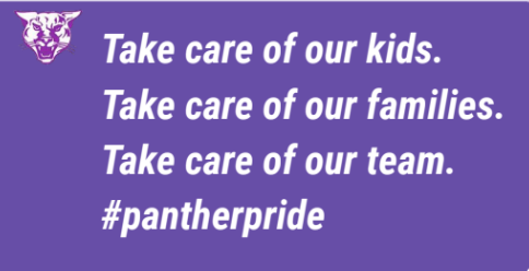 Take care of our kids. Take care of our families. Take care of our team.