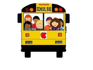 School Bus With Students On It