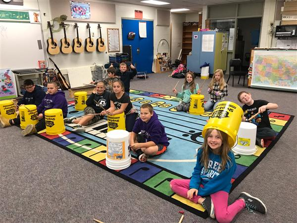 5th grade bucket drumming